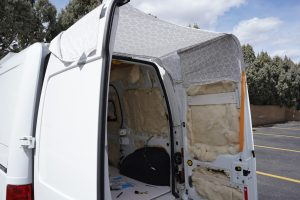 Prototype of cargo door awning for Ford Transit Connect